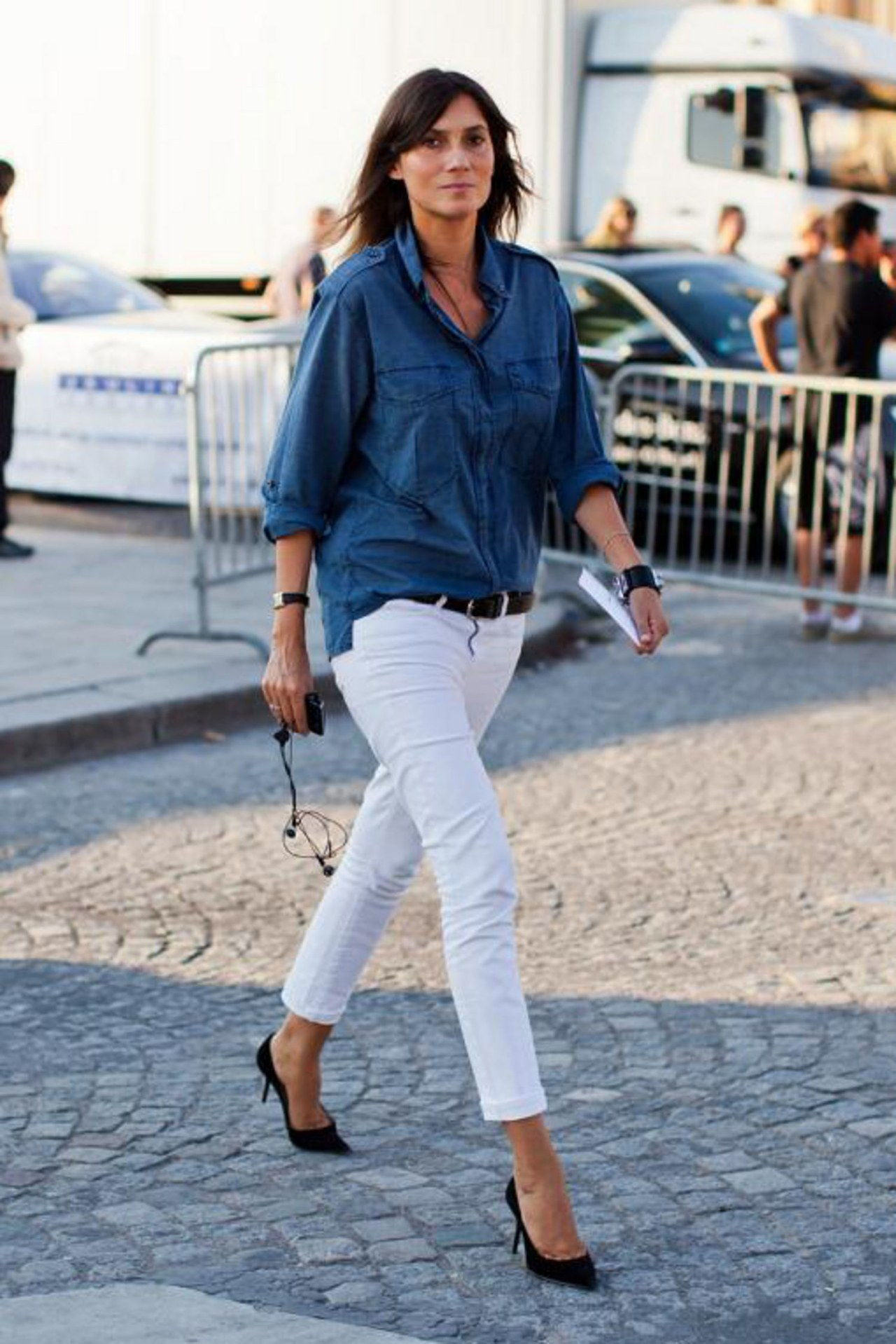 pudota winter white jeans stockholm streetstyle