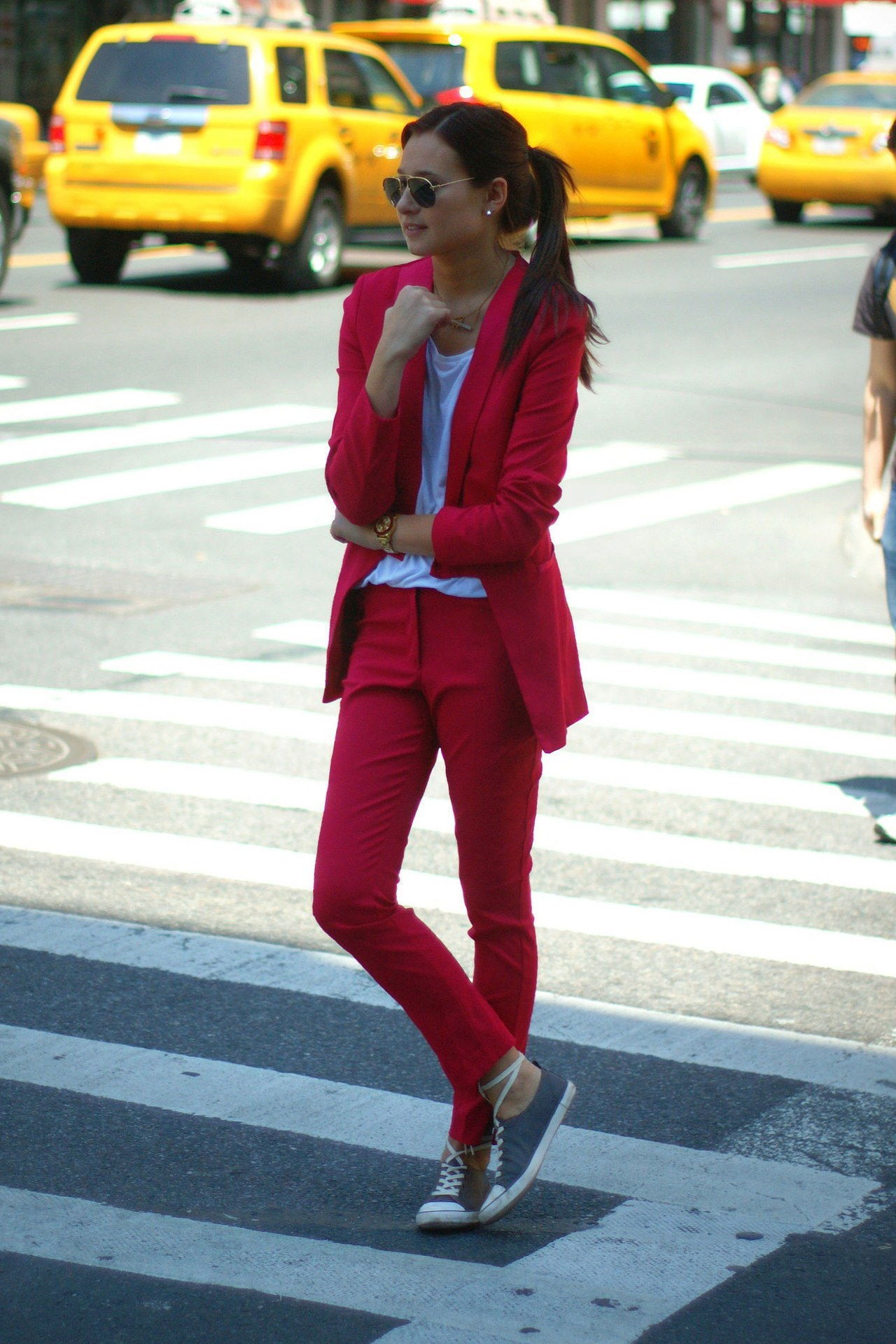 מִשׂרָד holiday party outfit idea red suit we wore what