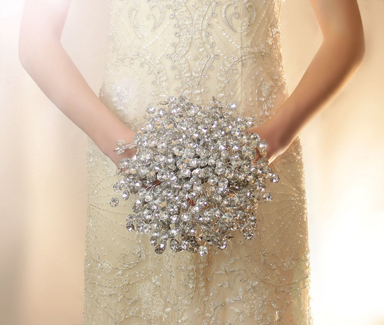 1 beaded bridal bouquets alternative wedding flowers