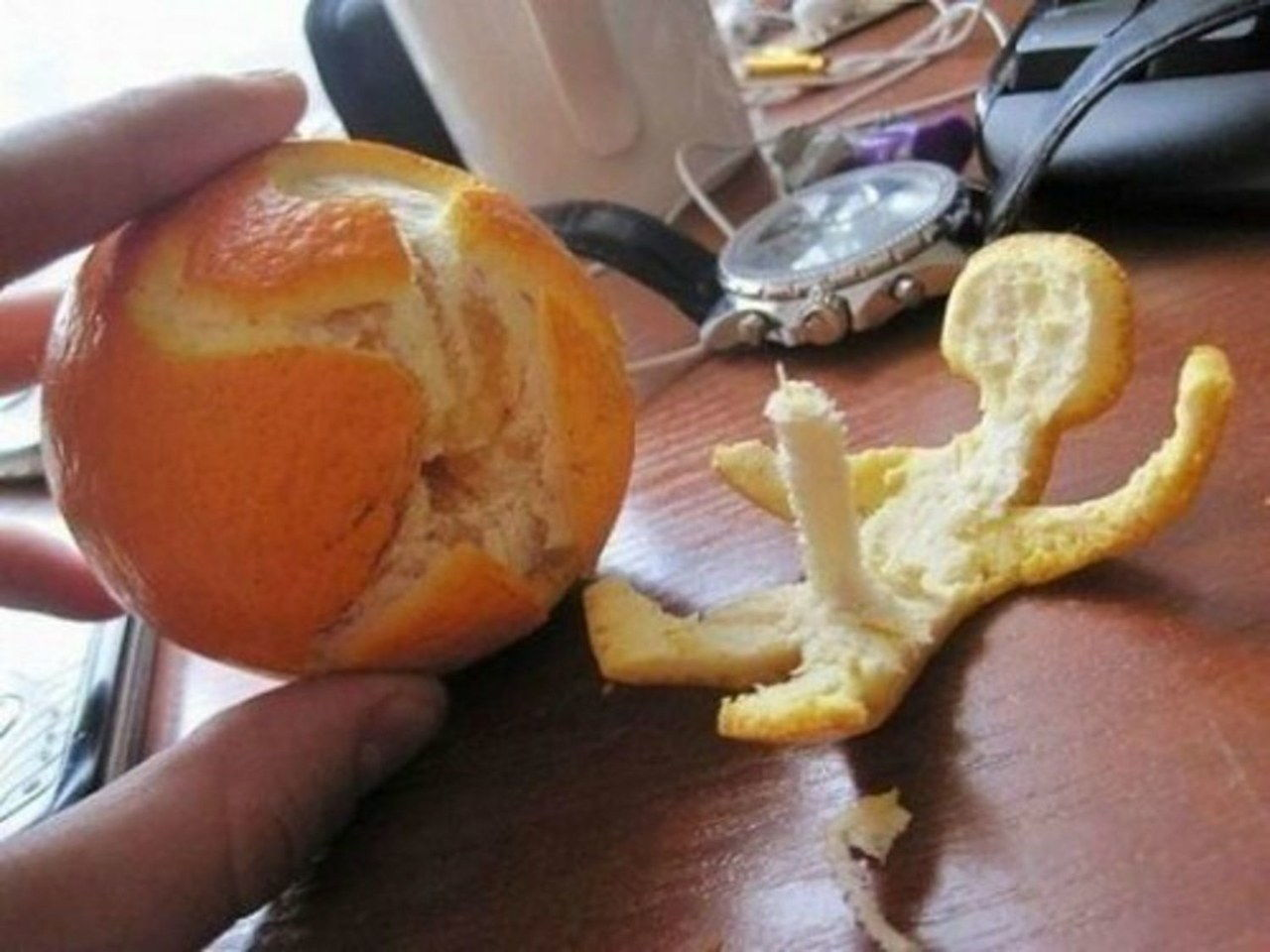 accidentel penis orange