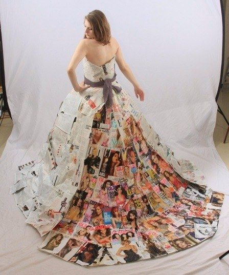 0412 dress made out of magazines 1 fa