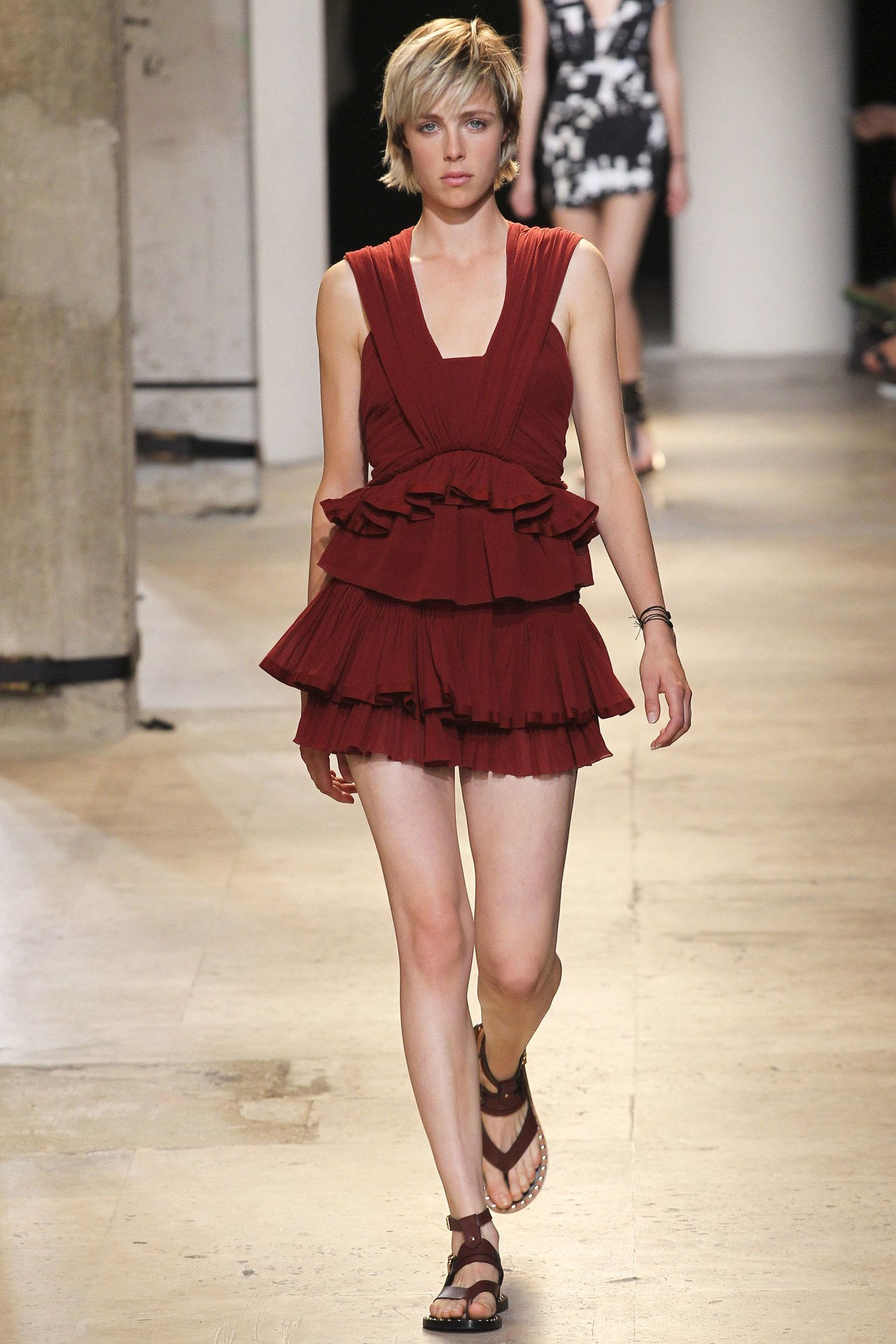 इसाबेल marant babydoll dress edie campbell spring 2015
