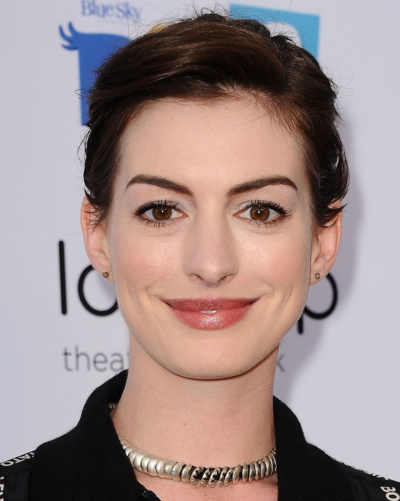 ऐनी hathaway rio 2 hairstyle updo 2