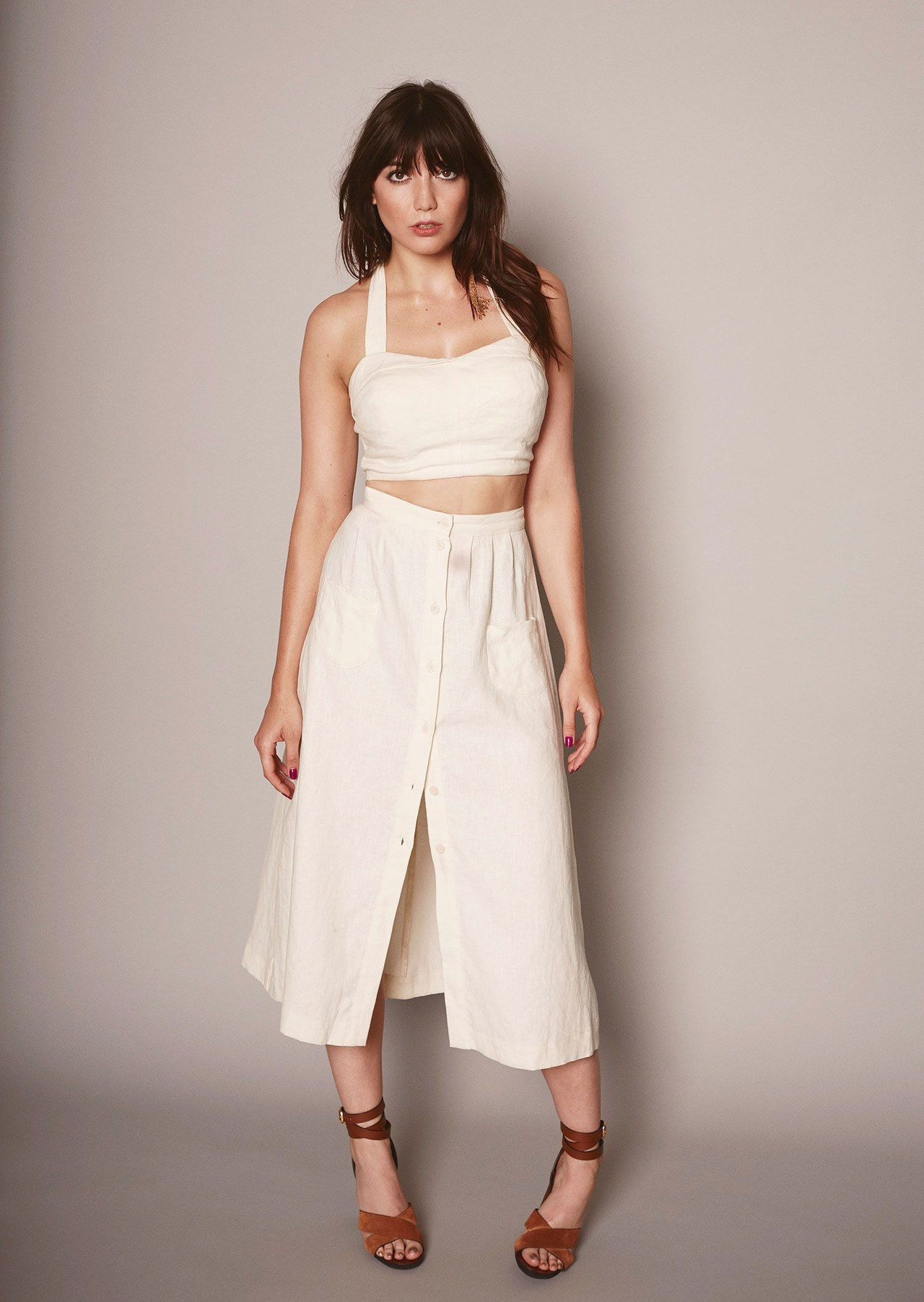 reformacija big bust collection white crop top