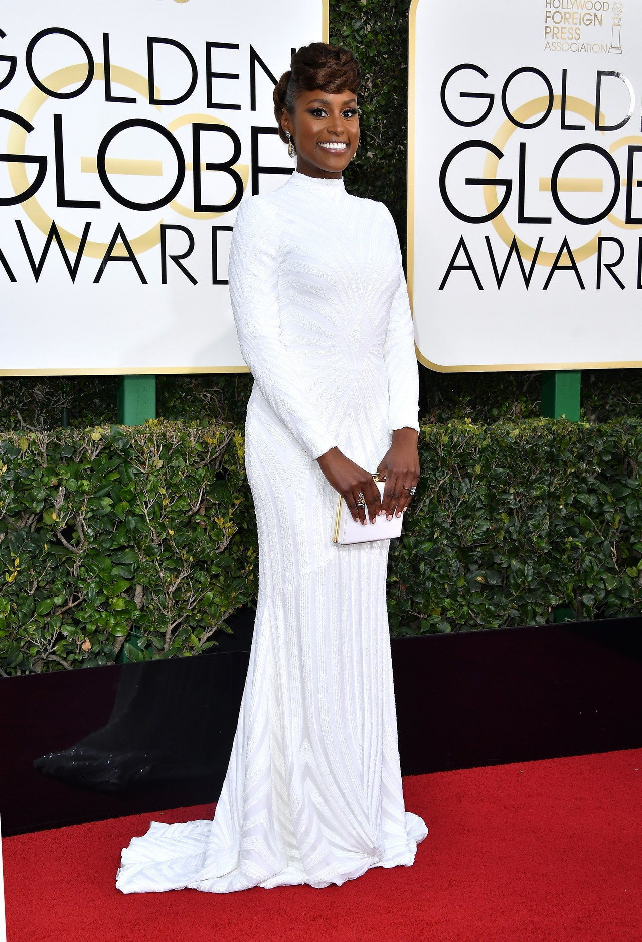 BEVERLY HILLS, CA - JANUARY 08: Actress Issa Rae attends the 74th Annual Golden Globe Awards at The Beverly Hilton Hotel on January 8, 2017 in Beverly Hills, California. (Photo by Steve Granitz/WireImage)
