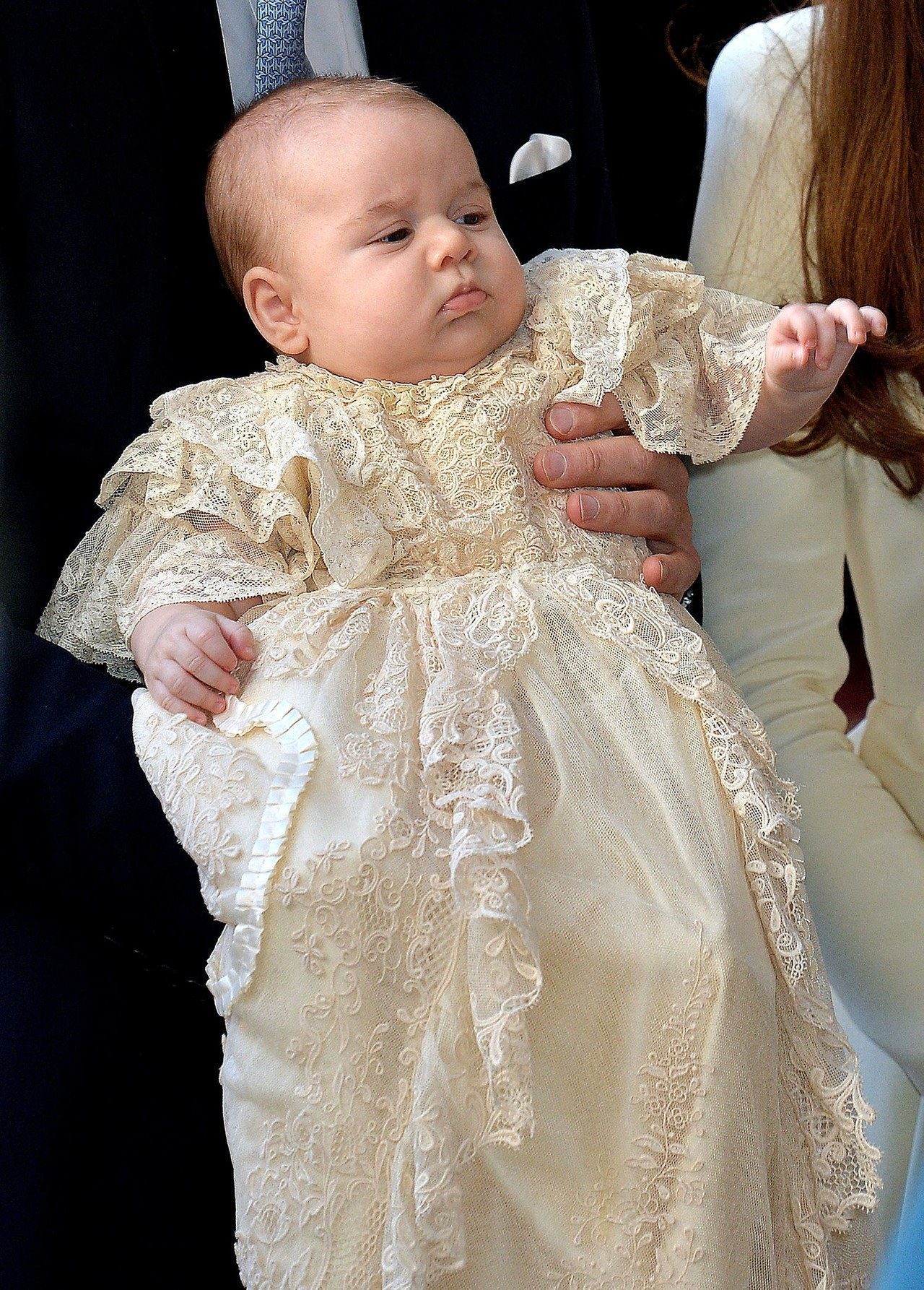 princ george lace christening gown