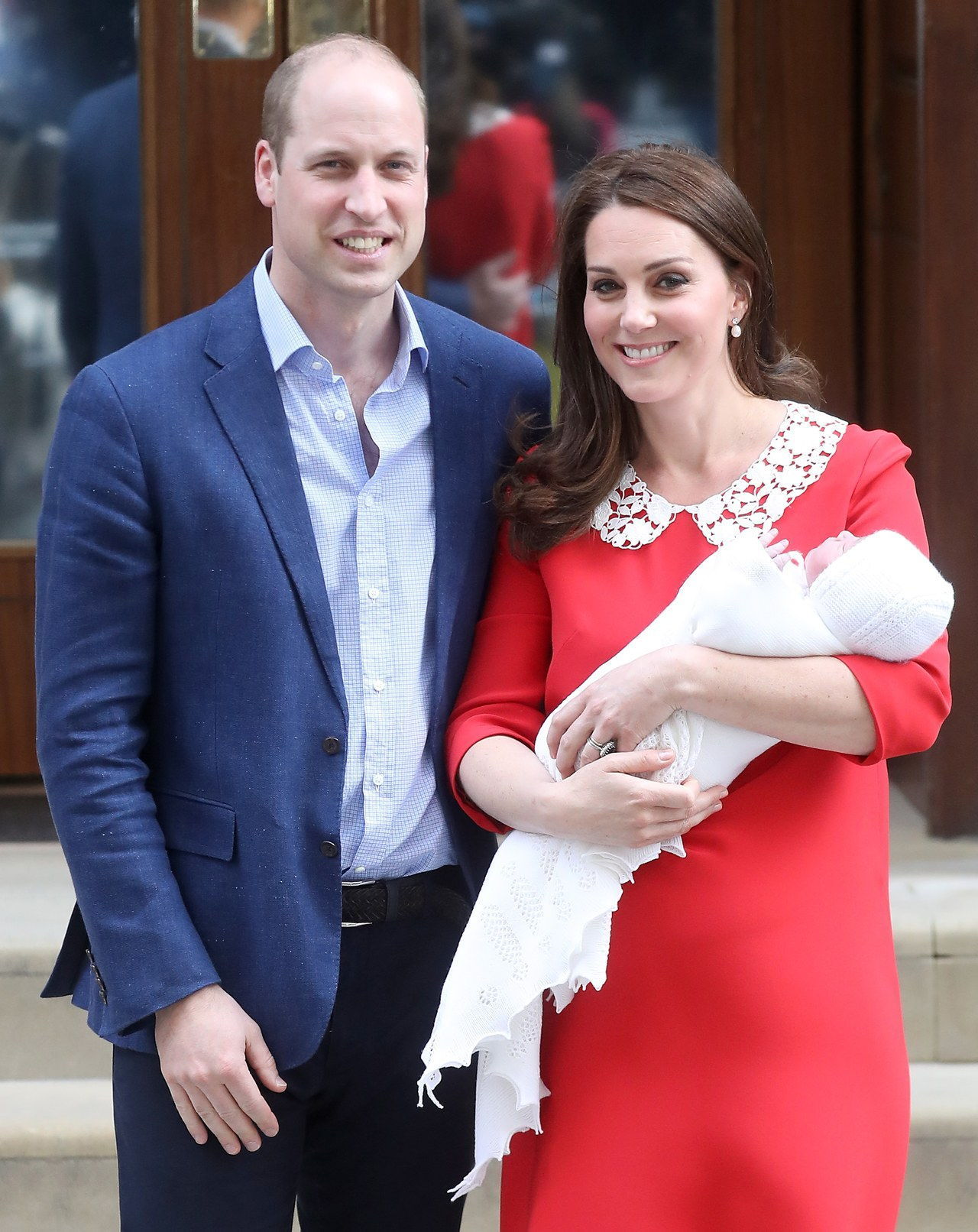 ה Duke & Duchess Of Cambridge Depart The Lindo Wing With Their New Son