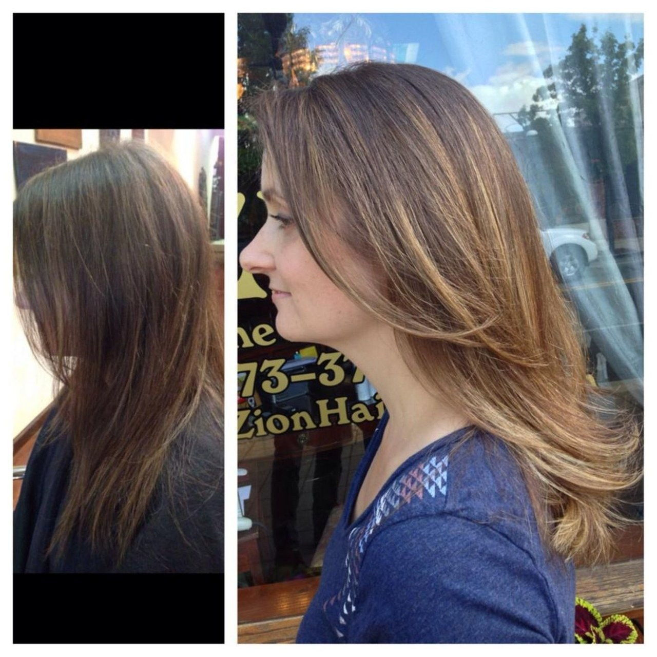 μαλλιά glaze before after