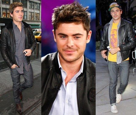 0917 zac efron leather jacket fa