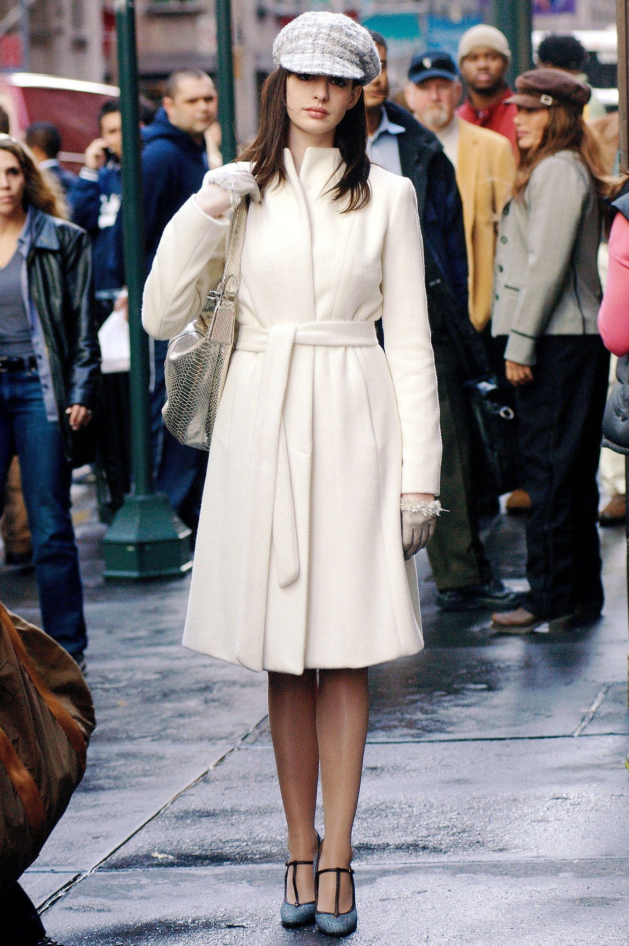 parhaat coats in movies the devil wears prada 2006 white belted