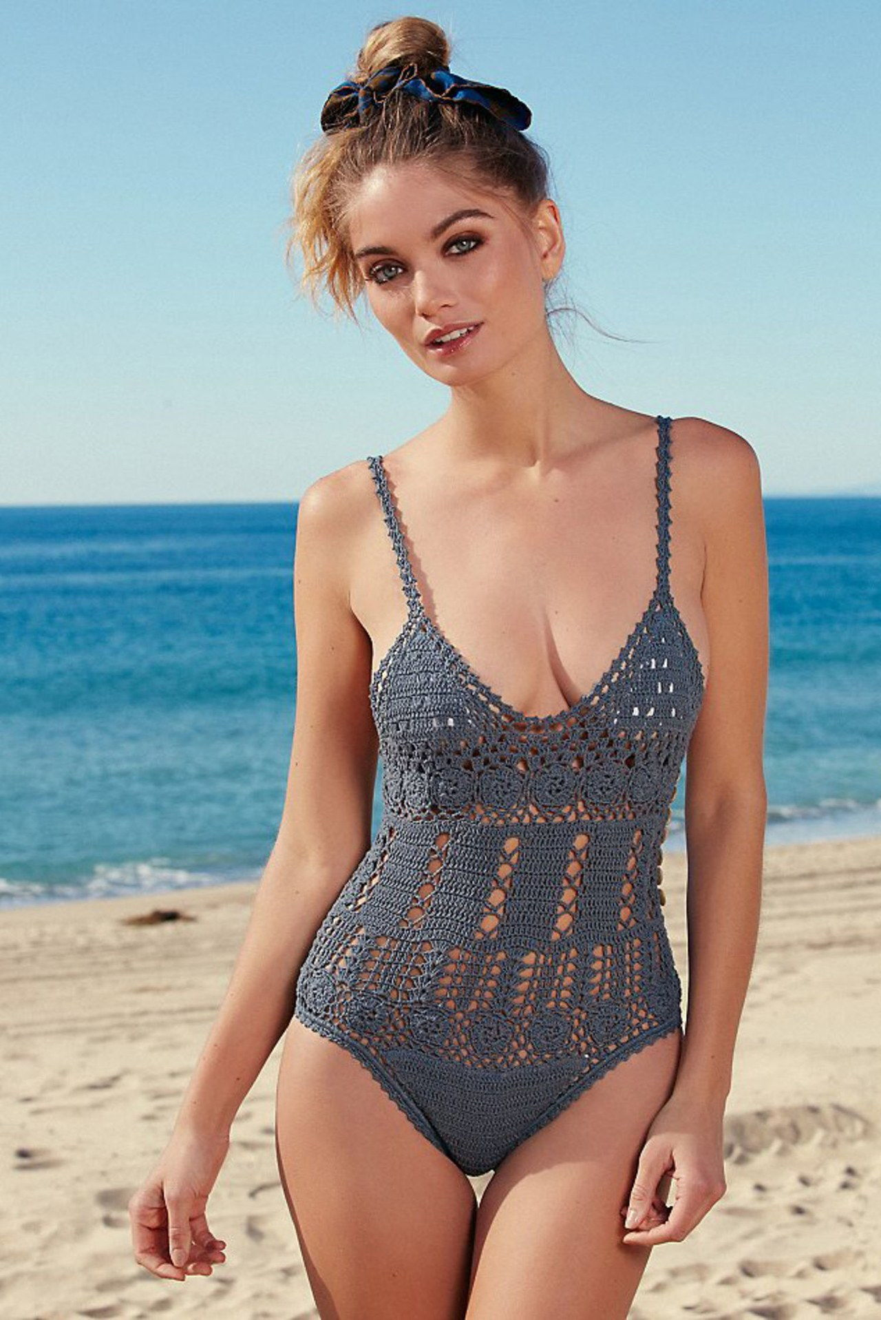 hän made me crochet one piece swimsuit