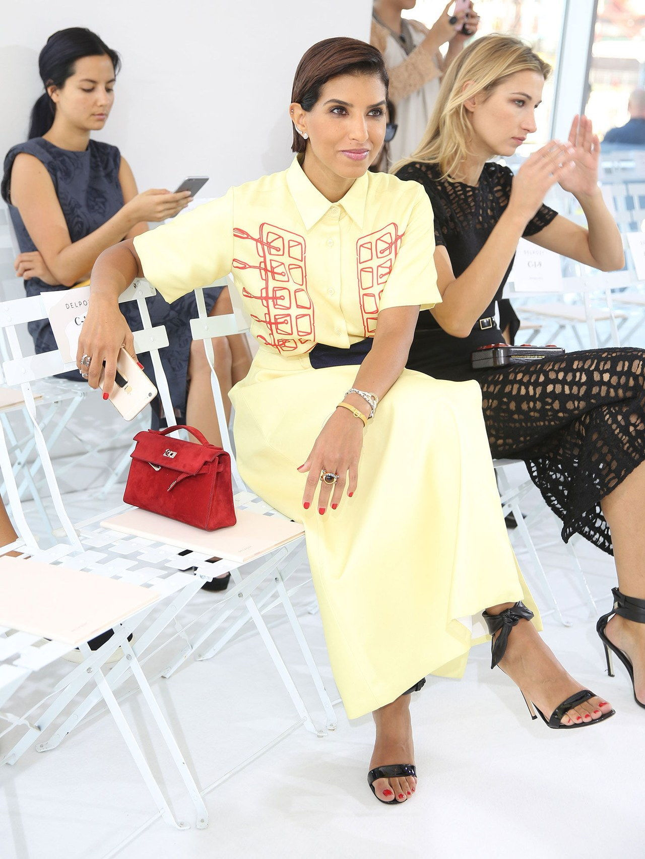 princeza deena yellow dress delpozo spring 2016 show