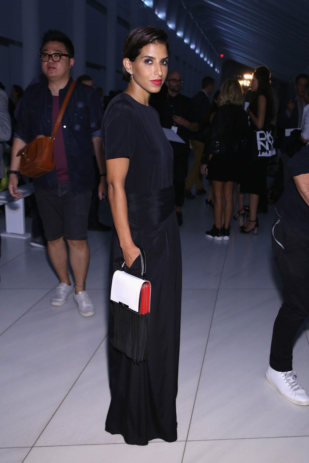 princeza deena black dress dkny spring 2016 show