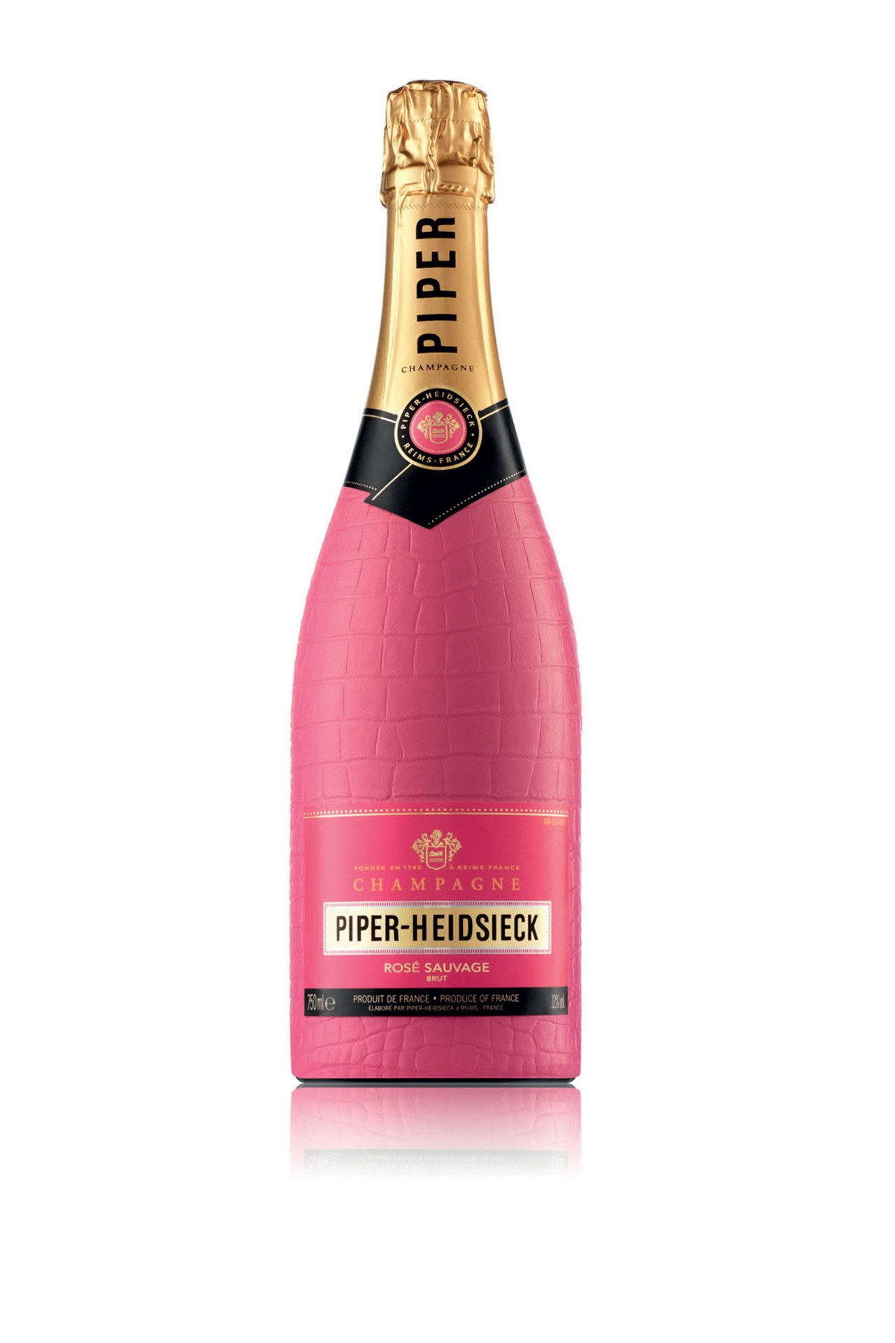 Cornemuseur Heidsieck Bodyguard Rose Sauvage Champagne in Hot Pink Croc Bottle