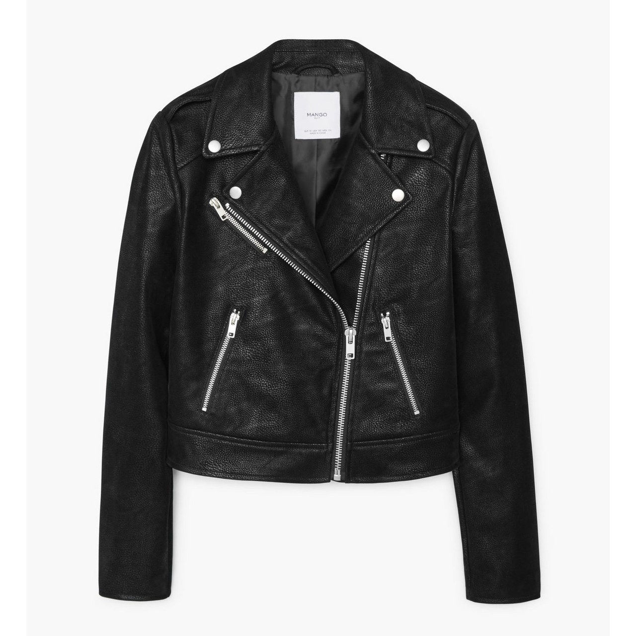 kevät leather jacket mango