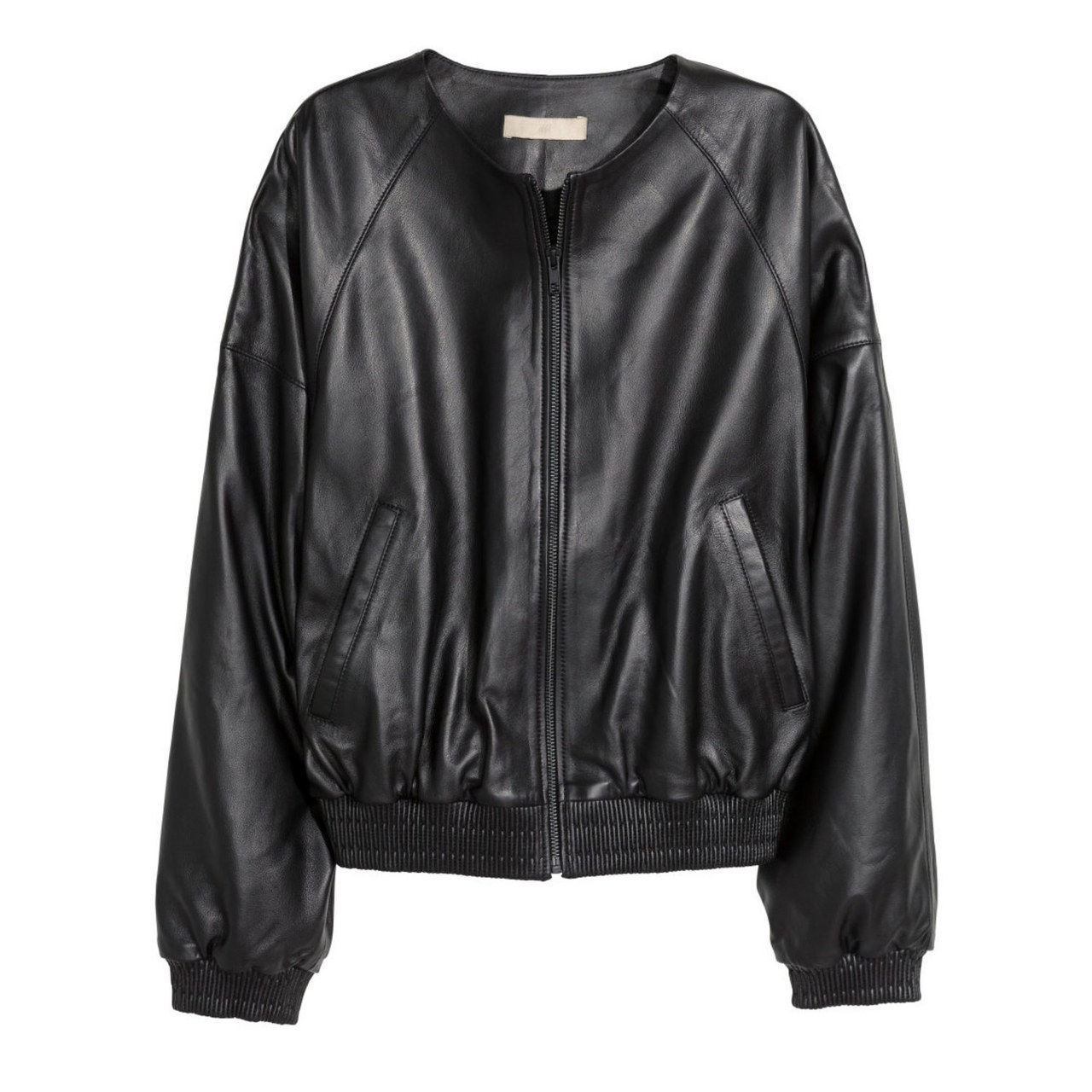 kevät leather jacket hm