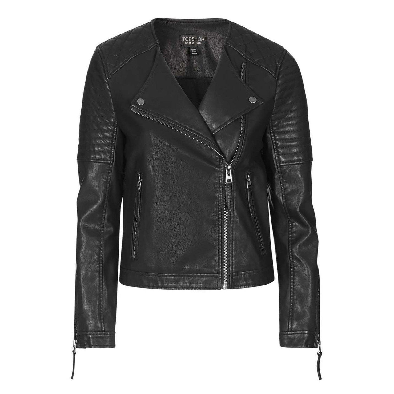 kevät leather jacket topshop
