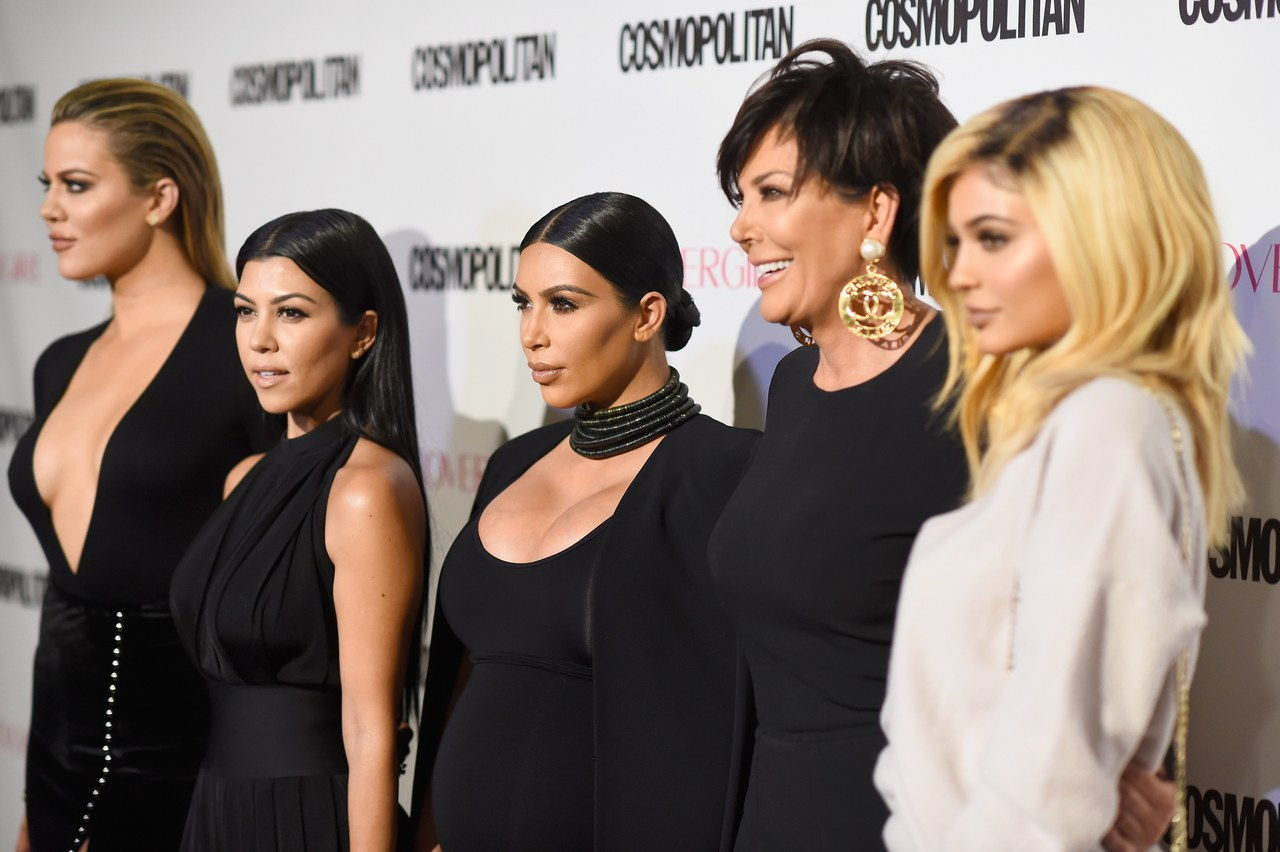 OUEST HOLLYWOOD, CA - OCTOBER 12: (L-R) TV personalities Khloe Kardashian, Kourtney Kardashian, Kim Kardashian, Kris Jenner and Kylie Jenner attend Cosmopolitan's 50th Birthday Celebration at Ysabel on October 12, 2015 in West Hollywood, California. (Photo by Frazer Harrison/Getty Images for Cosmopolitan)