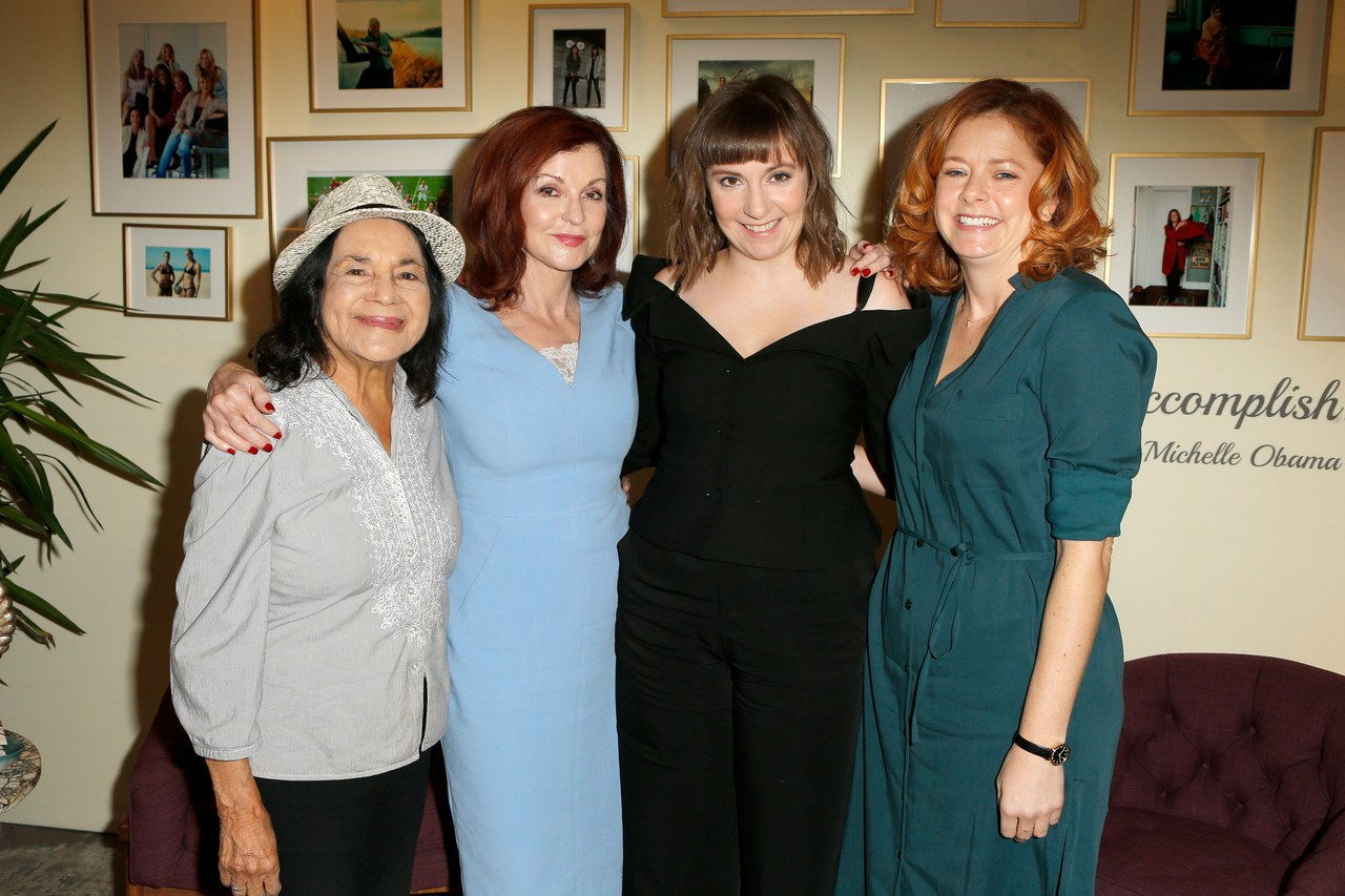डोलोरेस Huerta, Maureen Dowd, Lena Dunham, and Lizzie O'Leary