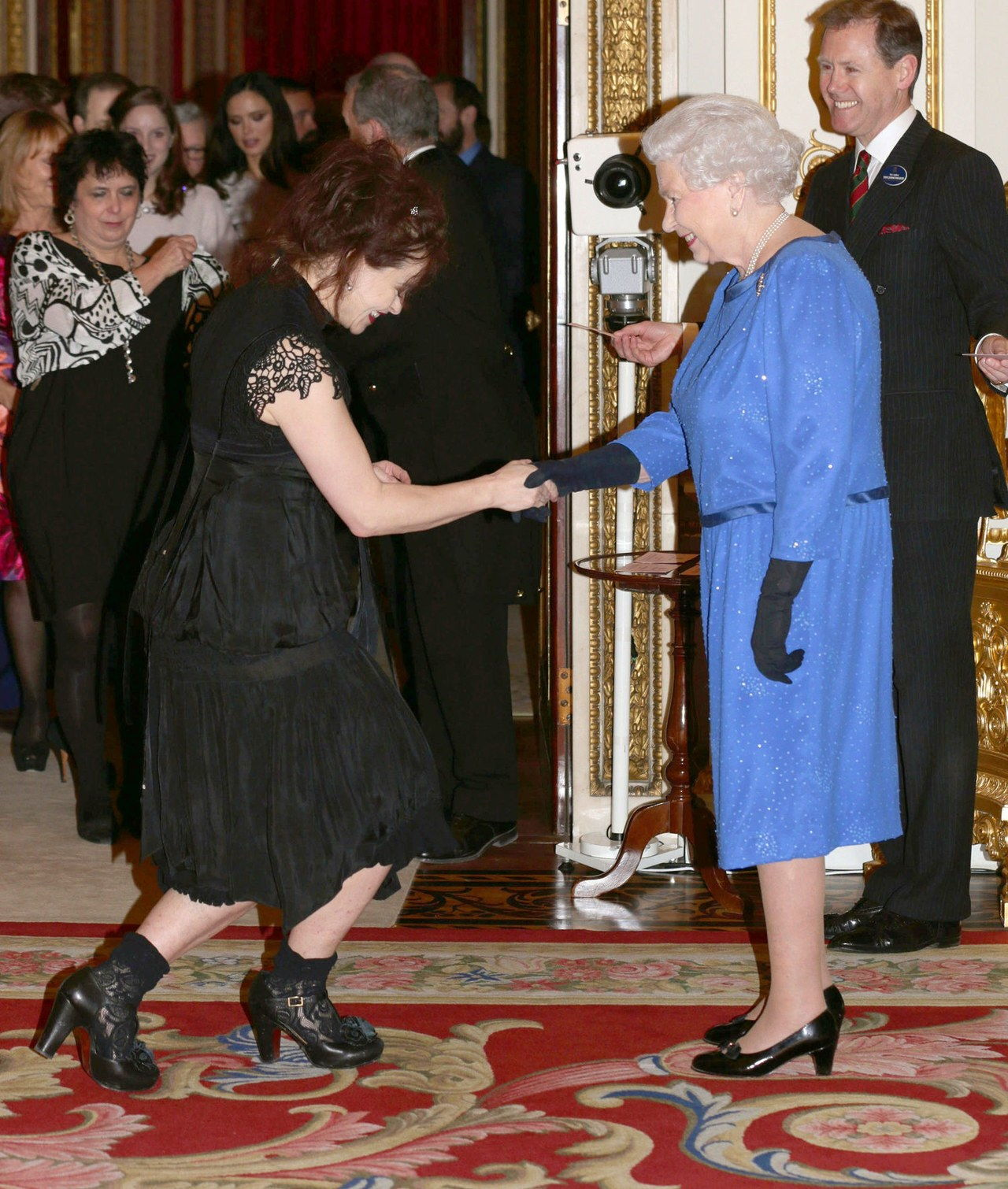 Helena bonham carter queen elizabeth feb 2014