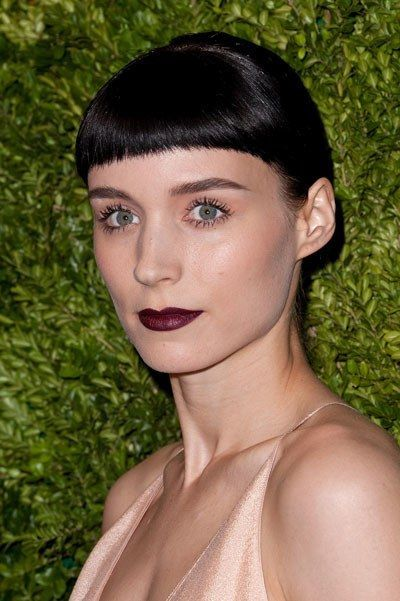 1115 rooney mara do don black lipstick bangs bd